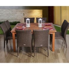 (CLICK IMAGE TWICE FOR UPDATED PRICING AND INFO) #outdoorfurniture #patiofurniture #diningsets #patiodiningsets #patio #outdoor #furniture #patiotables #patiochairs Amazonia BT Provence Square 9 Piece Patio Dining Set « zPatioFurniture.com