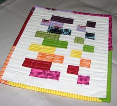Tutorial: Sew Fantastic: Mug Rug Tutorial :: Scrappy COLORBLOCK (This would look great on a bigger scale as a quilt!)