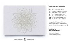 Serenity Mandala Decal Laptop Decal Laptop Skin by Keyshorts