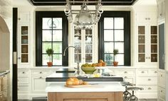 christopher-peacock-black-white-traditional-kitchen-Top 25 Must See Kitchens on Pinterest - laurel home