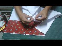 Barrado pano de prato com viés e bordado inglês - YouTube