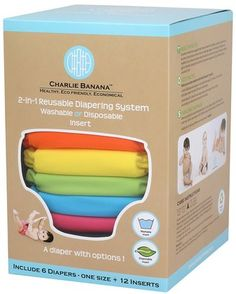 2-in-1 Reusable Diapering System, Washable or Disposable Insert by Charlie Banana