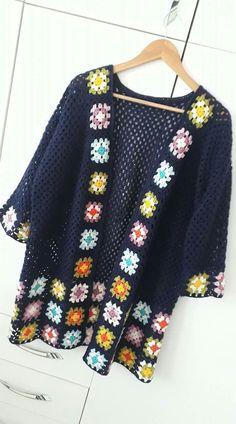 Transcendent Crochet a Solid Granny Square Ideas. Inconceivable Crochet a Solid Granny Square Ideas. Crochet Waistcoat, Gilet Crochet, Crochet Coat, Crochet Cardigan Pattern, Crochet Jacket, Freeform Crochet, Crochet Blouse, Cotton Crochet, Love Crochet