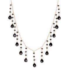 Look what I found on #zulily! Black Garnet Beaded Statement Necklace #zulilyfinds