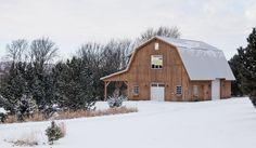 Winter Barn Home - Beautiful Setting!  www.sandcreekpostandbeam.com  https://www.facebook.com/pages/Sand-Creek-Post-Beam-Traditional-Post-Beam-Barn-Kits/66631959179