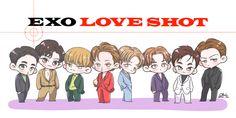 FanBook : Fan Art Social Platform Naruto Chibi, Chibi Manga, Chanyeol, Exo Chen, Kyungsoo, Chibi Tutorial, Chibi Poses, Exo Cartoon, Exo Stickers
