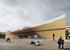 Helsinki Central Library by ALA Architects: http://www.dezeen.com/2013/06/14/ala-architects-wins-helsinki-library-competition/