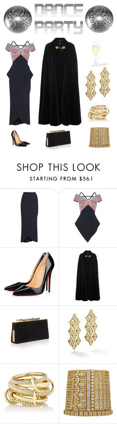 """Dance Party!"" by karen-galves on Polyvore featuring Roland Mouret, Christian Louboutin, Yves Saint Laurent, Jimmy Choo, Marina B, SPINELLI KILCOLLIN and danceparty"