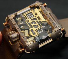 Devon Tread 1 Steampunk Wrist Watch http://www.ablogtowatch.com/devon-tread-1-steampunk-watch-review/