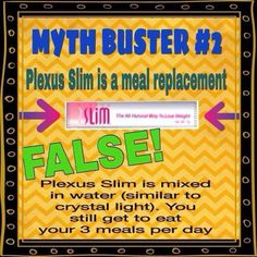 Plexus Slim is not a meal replacement www.stephaniemaki.myplexusproducts.com Ambassador #334191