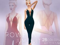 A new jumpsuit design that comes in 28 colors! This item can be found in the 'Outfits' section and has its own thumbnail for easy navigation. This item is available for sims aged teen to elder....