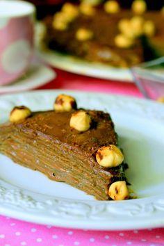 Mogyorókrémes rakott palacsinta Waffles, Pancakes, Mille Crepe, Crepes, Dutch, French Toast, Sweets, Meat, Breakfast