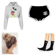 """Untitled #19"" by alyssahislope22 ❤ liked on Polyvore featuring Topshop and NIKE"