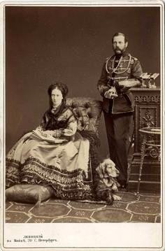 Tsar Alexander II and his wife Maria Alexandrovna (Nicholas' paternal grandparents).