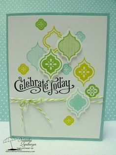 great colors - lots of blue and green, but a simple card