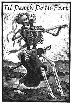 Til Death Do Us Part-Wedding Party Poster. $21.50, via Etsy.