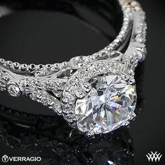 Verragio Twisted Split Shank Diamond Engagement Ring from the Verragio Parisian Collection.