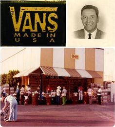 The original Van Doren (Vans) store in 1966.