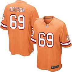 Nike Limited Demar Dotson Orange Youth Jersey - Tampa Bay Buccaneers #69 NFL Alternate