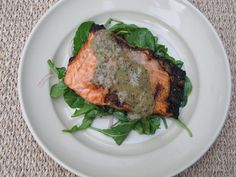 Grilled Salmon with Spicy Mustard Sauce