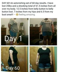 This is JUST 60 day results!! This isn't half of what Saba 60 can do to your life!