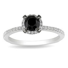 @Overstock - Black and white diamond  ring10k white gold jewelry http://www.overstock.com/Jewelry-Watches/Miadora-10k-White-Gold-1ct-TDW-Black-and-White-Diamond-Halo-Ring-G-H-I2-I3/5301372/product.html?CID=214117 $322.99