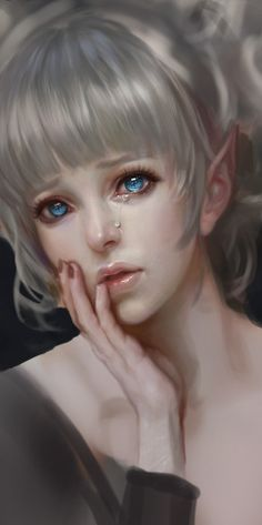 The mournful eyes of an elven princess who has lost all that was once dear to…