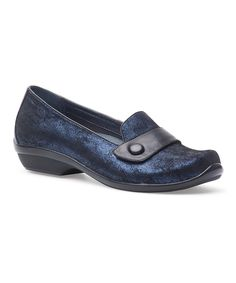 This Blue Metallic Olena Leather Loafer by Dansko is perfect! #zulilyfinds