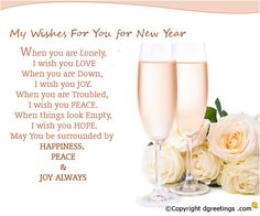 Send New Year wishes to your friends and family.