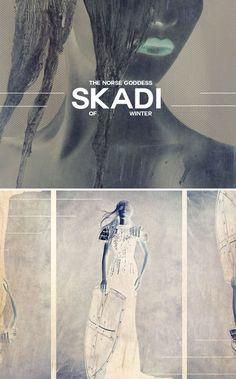 Skadi: The Norse Goddess of Winter Norse Goddess, Norse Pagan, Norse Mythology, Greek Mythology, Mythological Creatures, Mythical Creatures, Vikings, Asatru, Historical Artifacts