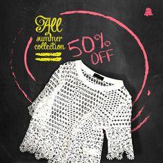 #SALE Countdown #Verano16  ¡50% OFF en nuestras blusas, para disfrutar de este verano que no termina!   - Blusa Granate // BLBELL33  Te esperamos en nuestro local de Montevideo Shopping
