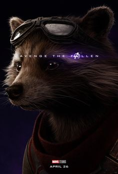 Avengers: EndGame Avenge The fallen Rocket Raccoon Marvel Avengers, Captain Marvel, Hero Marvel, Avengers Film, Avengers Cast, Marvel Fan, Captain America, Avengers Characters, Bucky