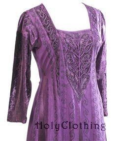 Morgana Medieval Velvet Satin & Lace Tudor Princess Dress Gown