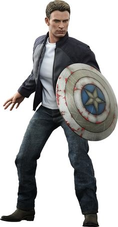 Hot Toys Captain America and Steve Rogers Sixth Scale Figure Set