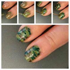 Army camo nails