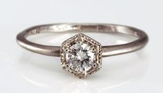 Unique engagement and wedding rings by Catbird   Bridal MusingsBridal Musings Wedding Blog