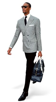 Chris Bosh. Not Wade. Not James. Bosh. And when he arrived at the All-Star Game in February in a DB charcoal blazer, white shirt, and black trousers, carrying a Louis Vuitton Damier-print bag, he showed just how much you can do without color.  #Aim2Win