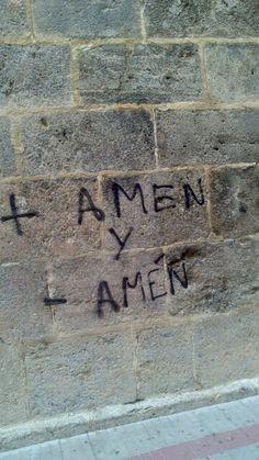 Pintada en una iglesia en Baza, Granada.