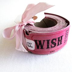 """100 Pink """"Wish"""" Tickets - cocodot"""