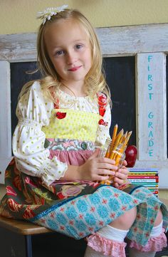 Matilda Jane Fiona Peasant, Perfect Day Knot Dress, and Sand Bucket Socks