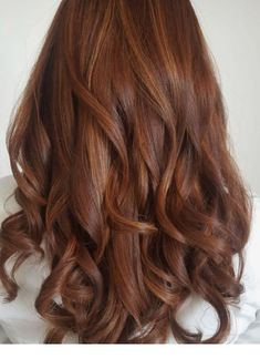 Kupferrot # Kupferrot - All For Hair Color Balayage Balayage Hair, Ombre Hair, Auburn Balayage, Wavy Hair, Red Hair Inspo, Copper Red Hair, Copper Hair Colors, Hair Colours, Hair Color Auburn