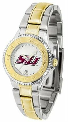 Southern Illinois Salukis SIU NCAA Womens Competitor Two-Tone Watch by SunTime. $86.95. The ultimate fans statement our Competitor Two-Tone timepiece offers men a classic business-appropriate look. Features a 23kt gold-plated bezel stainless steel case and date function. Secures to your wrist with a two-tone solid stainless steel band complete with safety clasp.