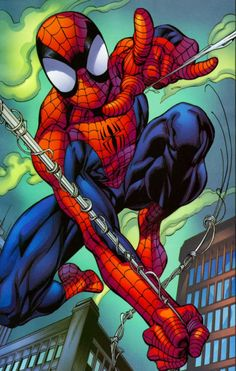 Ultimate Spider-Man by Mark Bagley Amazing Spiderman, Art Spiderman, Spiderman Tattoo, Marvel Comic Books, Marvel Art, Marvel Characters, Marvel Heroes, Comic Books Art, Comics Anime