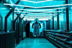 Nike Tech Pack Hyperfuse Windrunner Installation @ Blends, Beverly Hills  #lights #retail