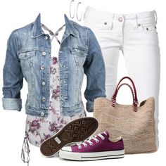 """Floral Top & Capri"" by wishlist123 on Polyvore"