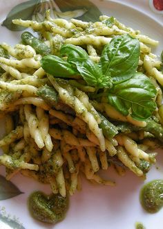 Troffie al pesto, Liguria #food #WonderfulExpo2015