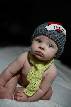crochet tattoo inspired hat great for valentines day photos  with a cute red heart and strip can do either Mom or dad you pick    yellow scarf not included :::    smoke free pet free home