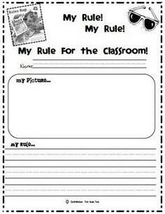 Kindergarten & First Grade Fever!: Check this out. Favorite Back-to-School Activity and FREEBIES! Classroom Rules, First Grade Classroom, Classroom Behavior, Classroom Management, Classroom Ideas, Behavior Management, Classroom Expectations, Disney Classroom, Classroom Organisation