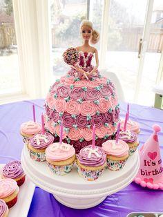 Bug Birthday Cakes, Barbie Doll Birthday Cake, Easy Birthday Desserts, Bithday Cake, Barbie Cake, Birthday Cake Girls, 4th Birthday, Birthday Ideas, Doll Cake Designs
