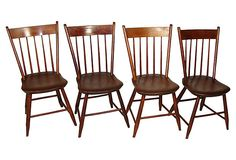 One Kings Lane - Heading Upstate - 19th-C. American Side Chairs, Set of 4